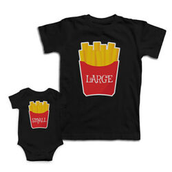 Mom And Baby Matching Outfits French Fries Small Large Knit Cotton Match Clothes