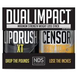 Nds Nutrition Dual Impact Stack Liporush 60 Cap And Censor 90 Sgel - Free Shipping