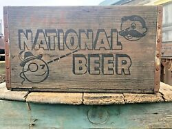 Vintage Antique Wooden National Beer Crate Reduced Natty Boh 4432