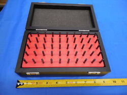 Mahr 50 Pc Pin Gage Set 1.51 Mm - 2.00 Mm With Vintage Style Wooden Box / Case