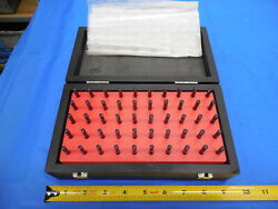 Mahr 50 Pc Pin Gage Set 2.51 Mm - 3.00 Mm With Vintage Style Wooden Box / Case