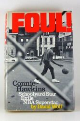 Foul The Connie Hawkins Story Hardcover Signed By Connie Hawkins
