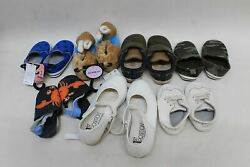 7 X Baby Girls Shoes Bundle Various Size And Brands Mixed Lots Flat Shoes/slippers