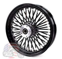 16 X 3.5 Black Out 46 Fat King Spoke Rear Wheel Rim Harley Touring Softail Dyna