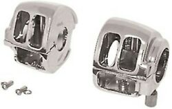 Chrome Handlebar Control Switch Housing Kit For Softail Dyna Road King Sportster