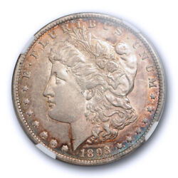 1893 O 1 Morgan Dollar Ngc Au 55 About Uncirculated To Ms Toned Tough