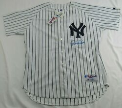 Derek Jeter Signed Auto Autograph Russell Athletic Yankees Jersey Steiner Sports