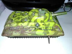 Vintage Marx Toy Wind Up Army Climbing Army Tank