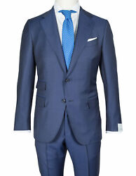 Caruso Suit In Dark Blue From Connoisseur Superfine 130and039s Wool / Regeur1690