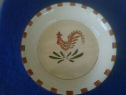 International Silver Company Farmhouse Rooster Pie Plate 10 38 X 2.25