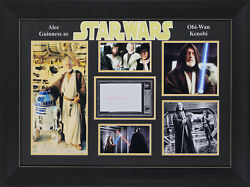 Alec Guinness Star Wars Authentic Signed And Framed 3.5x5.5 Postcard Bas Slabbed