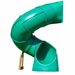 Backyard Discovery Tall Spiral Tube Slide - Left Exit Green - Mounts To 5 Ft