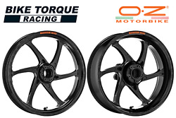 Oz Gass Rs-a Black Forged Alloy Wheels To Fit Ducati 899 Panigale 13-15