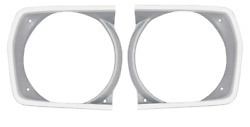 Oer Argent Silver Headlamp Bezel Set 1971-1972 Valiant Duster And Scamp