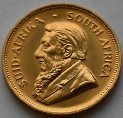 1980 South African Krugerrand 1 One Ounce Fine Gold Coin
