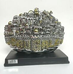 Sterling And Gold Plated Jerusalem Panorama Souvenir By Amy Souvenires Ltd