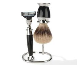 Luxury Shaving Set With Best Badger Brush By Erbe, Authentic German Quality