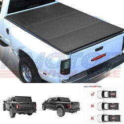 Tri-fold Lock Hard Solid Tonneau Cover Short Bed 5.5 Ft For Ford F150 2015-2018