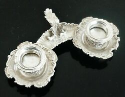 Unusual Antique Sterling Silver Double Go To Bed Candlestick, Frazer And Haws 1893