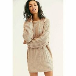 Womenand039s Free People Good As Gold Sweater Dress Cream Puff Sz L