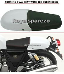 Royal Enfield Gt 650 And Interceptor 650 Premium Dual Seat With Ice Queen Cowl