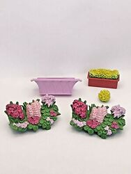 Fisher-price Loving Family Dollhouse Replacement Window Box Planter Flowers 5 Pc