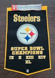Nfl Pittsburg Steelers Super Bowl Champions Dynasty Banner Nwt