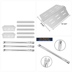 Dcyourhome Grill Parts Kit For Weber Genesis 300, Flavorizer Bars And Heat Defle