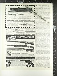 1965 Pacifica Revolver And Fajen's Thumbhole Mannlicher Rifle Stock Advertisements
