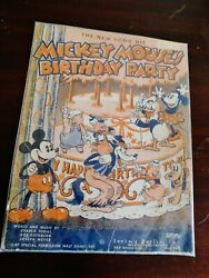 Vintage 1936 Disney Mickey Mouseand039s Birthday Party Sheet Music Irving Berlin Inc
