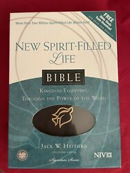 New Spirit-filled Life Bible Niv Black Bonded Leather By Thomas Nelson
