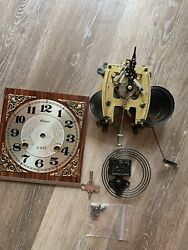 Vintage Alaron 31-day Wall Clock Working No Pendulum For Parts