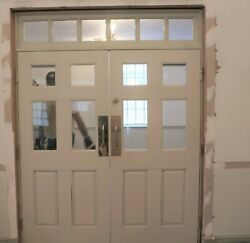 Double Doors 74 X 97 With Transom Solid Wood Georgia Church Salvage