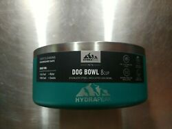 Hydrapeak Stainless Steel Insulated Dog Bowl 8 Cup - Large - Green - New