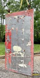 Large, Metal Clad Rolling Fire Factory Door, Tennessee Mill Salvage, 109 X 56