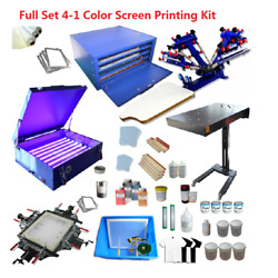 Brand New Full Set 4 Color 1 Station Screen Printing Kit With 1822in Platen