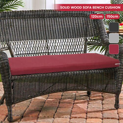 Outdoor Bench Pad Waterproof Polyester Fabric Seater Garden Seat Swing Cushion
