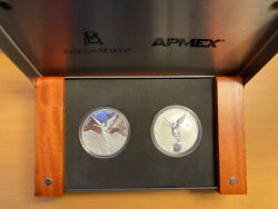 2020 Mexico Libertad 1 Oz Silver Proof And Reverse Proof 2 Coin Set