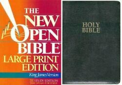 Holy Bible The New Open Bible King James Version, Large Print, Black Bonded Lea