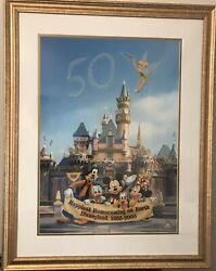 Disneyland Happiest Homecoming On Earth 50th Anniversary Le Litho 299/500