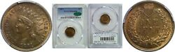 1871 Indian Head Cent Pcgs Ms-64 Rb Cac
