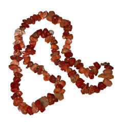 Huge Natural Italian Mediterranean Red Coral Nugget Bead Necklace