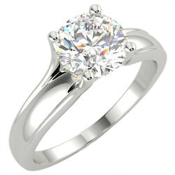 1.03 Ct Round Cut Vs1/d Solitaire Diamond Engagement Ring 14k White Gold