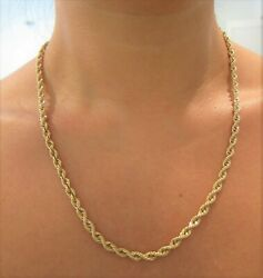 14kt Yellow Gold 4mm Rope Design 20 Chain 26.4gr