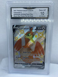 2021 Pokemon Cramorant V Swsh086 Shining Fates Black Star Promo Gma 10 Gem Mint