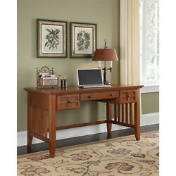 Home Styles Arts And Crafts Cottage Oak Executive Desk With Or Without Hutch
