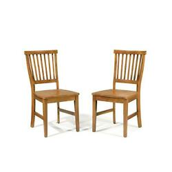Home Styles Set Of 2 Arts And Crafts Side Chairs Rich Cottage Oak