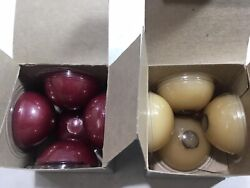 Partylite N2023p Cranberry And N2079 Vanilla Floater Candles 9ct Lot Euc Free Ship