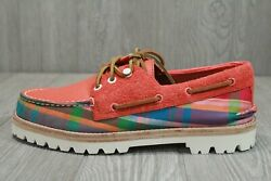 63 Rare Sperry Top Sider Madras Cloud Collection Boat Shoes Menand039s Sizes 9 11