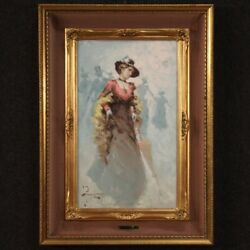 Signed Painting Framework Oil On Canvas Portait Lady Girl Woman Belle Andeacutepoque